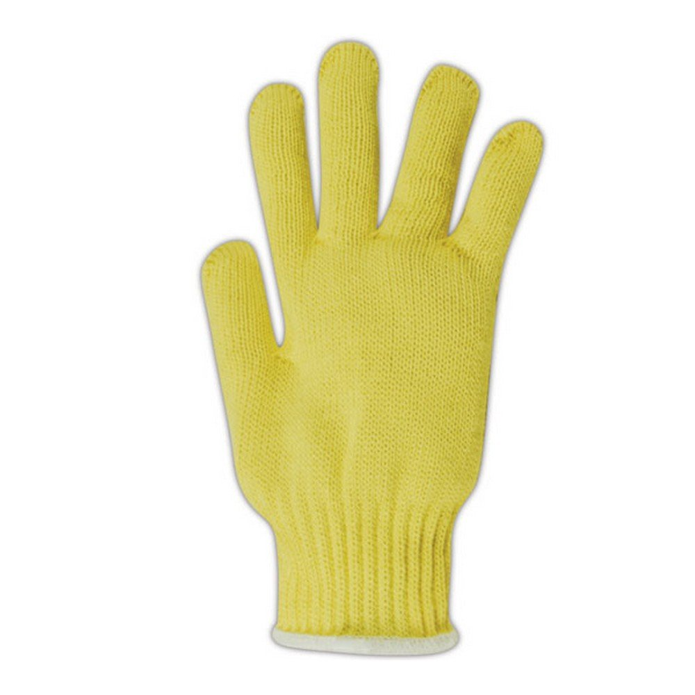 Magid Glove & Safety 93JKEV-RB Magid Cut Master Standard Weight Machine Knit Gloves, Made with Dupont Kevlar 1000, Men's (Fits), Yellow, Jumbo (Fits XL) (Pack of 12)