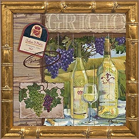 Fine Framed Art: Wine Country Collage I by Brent, Paul - Work Pinot Gris Wine