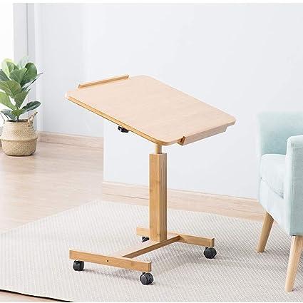 Mesita de noche, escritorio portátil, mesa extraíble, mesa ...