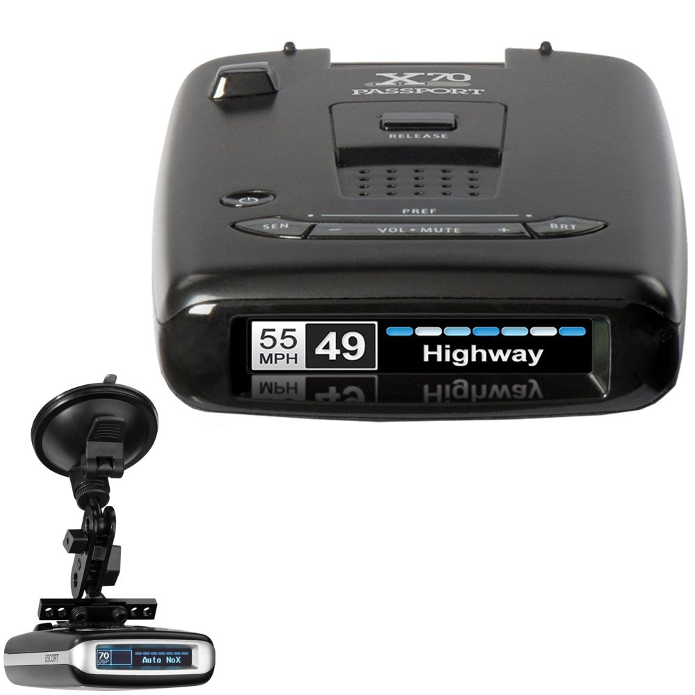 Passport Radar Detector >> Escort X70 Passport Radar Detector Radarmount Suction Mount Bracket For Radar Detectors