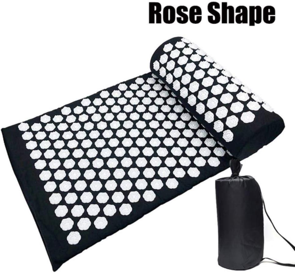 MIZ agopuntura tappetino massaggiante per agopuntura tappetino da yoga con cuscino A-beige. alleviare il dolore alla schiena e al corpo rilassante