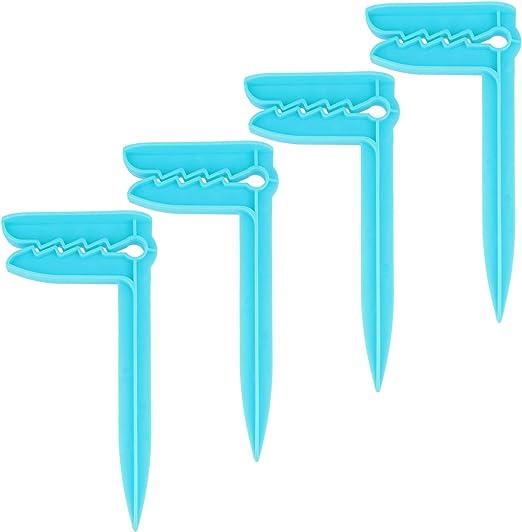 Pinzas para Toallas para Sujetar Acampar o Hacer un Picnic 04 Piezas - Arenque//Azul com-four/® 4X Clips de Toallas de Playa Ideal para la Playa Viajar