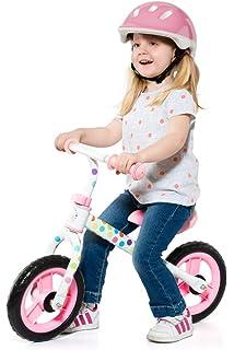Chicco First Bike - Bicicleta sin pedales con sillín regulable, color rosa, 2-5 años: Amazon.es: Juguetes y juegos