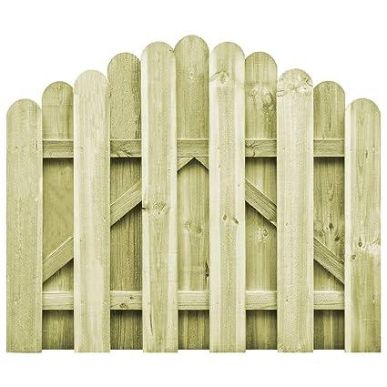 Festnight Portail De Jardin En Bois Portillon De Jardin Cloture Exterieur Terrasse 100 X 75 Cm Lx H