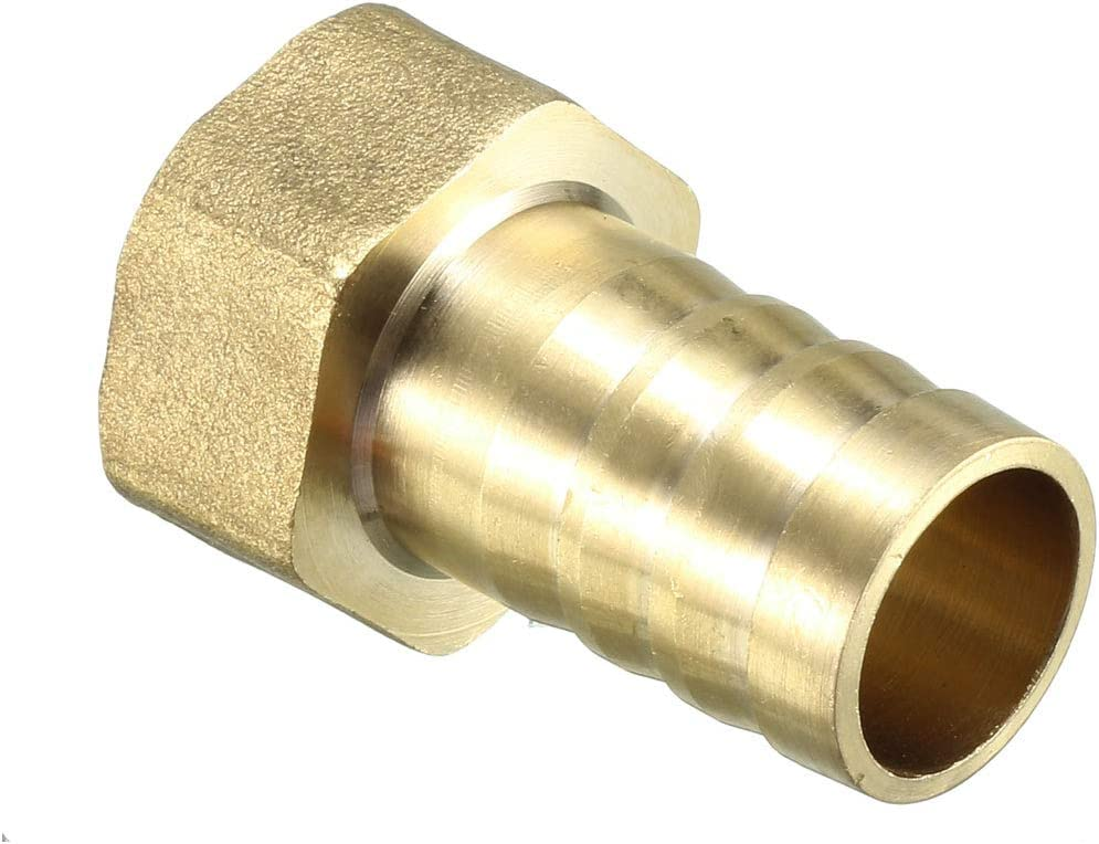 Brass Barb Hose Fitting Connector Adapter 10mm Barbed x 1//2 PT Female Pipe 2pcs