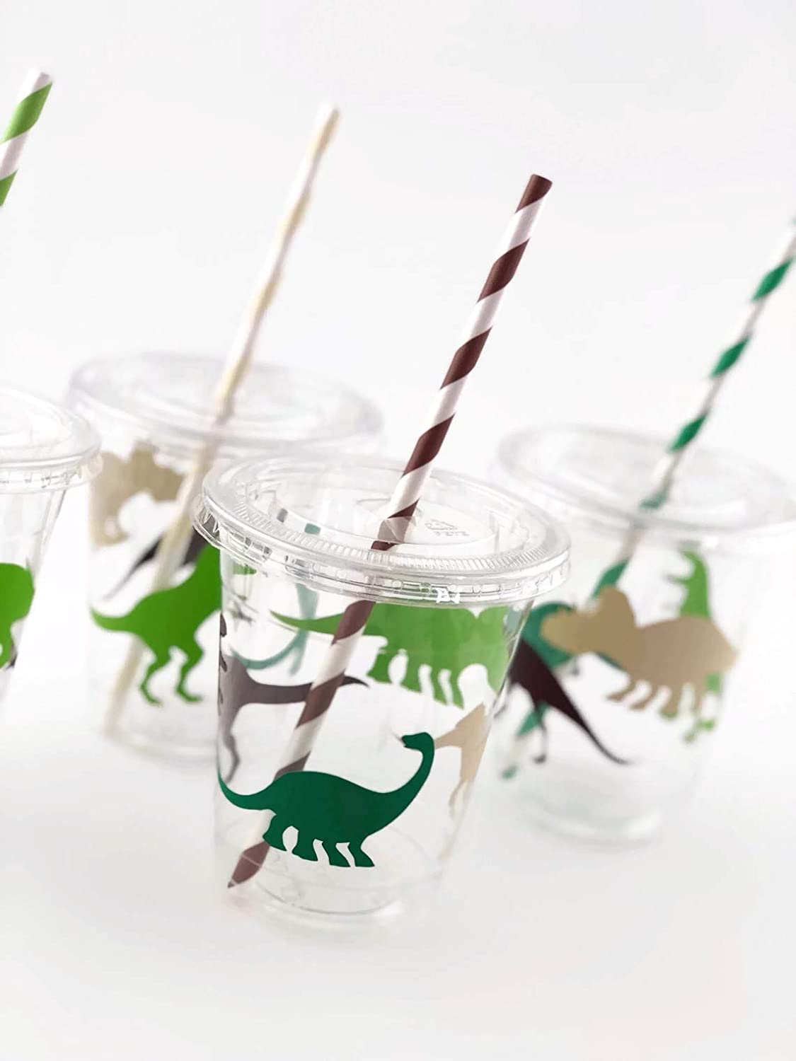 Dinosaur Cups Set of 12 Dino Birthday Party Supplies for Kids Parties