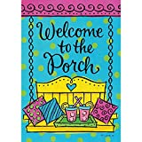 Porch Welcome – Standard Size, Decorative Double Sided, Licensed and Copyrighted Flag – Printed IN USA by Custom Decor Inc. 28 Inch X 40 Inch approx.