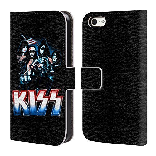 Official KISS Hailing From NYC Posters Leather Book Wallet Case Cover For Apple iPhone 5c