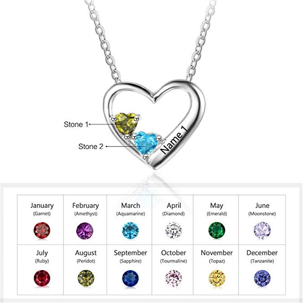 Brilliant sun Personalized Necklace with Birthstones Birthstones Long Necklaces Custom Made