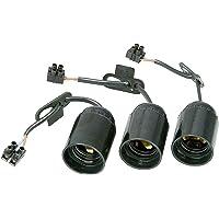 Renovier-fitting, voorgemonteerd met ca. 13 cm zichtbare kabel H03VV-F 2x0,75 mm2, kroonluchter en trekontlasting, 3…
