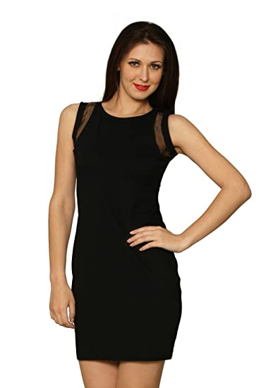 c153663f700 Miss Chase Women s Cotton Panelled Dress (MCS14D02-28-62 Black X-Small)