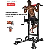 Multi-function Gym Body Workout,Exercise Strength Fitness Equipment Double-bar Indoor Pull Up Horizontal Bar Power Tower,Push-Ups/Double-arm Flexion/Double-leg lift