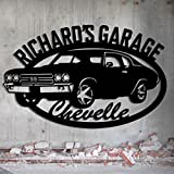 Chevelle Garage - 1970 Chevelle SS - Personalized Metal Sign - Metal Wall Art - Garage Sign Custom Name 26.5 Wide x 16.75 Tall