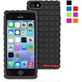 Snugg iPhone 5 / 5S / SE Silicone Case in Black - Non-Slip Material, Protective and Soft to Touch for the Apple iPhone 5 / 5S / SE