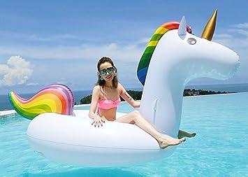 Decestar Inflable Gigante de Unicornio Flotador de Helado para piscina, Juguete para fiesta de piscina con válvula rápida(Unicornio): Amazon.es: Juguetes y ...