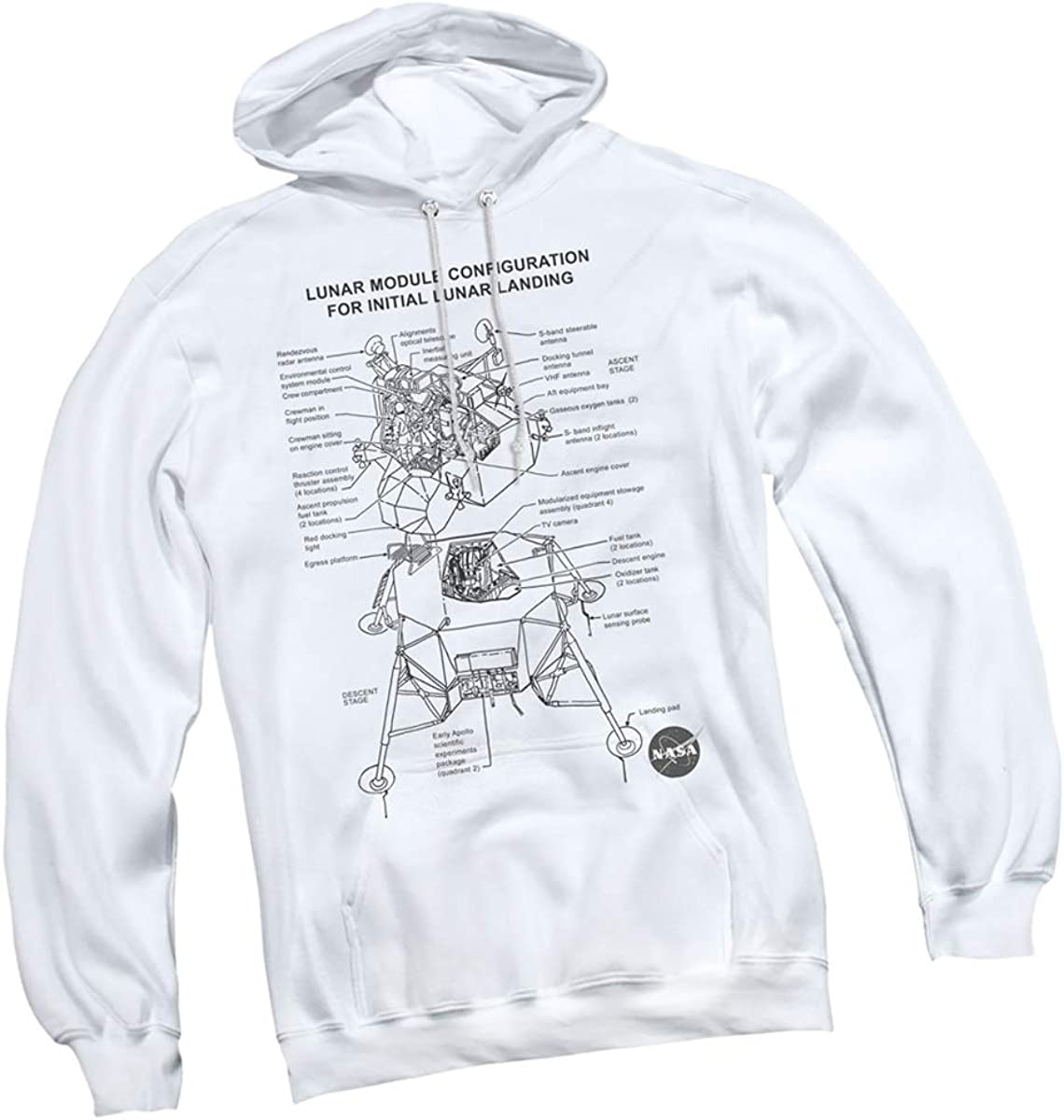 Womens Apollo 11 Moon Landing 50th Anniversary Long Fleece Sweatshirt Pockets Pullover Hoodie Dress