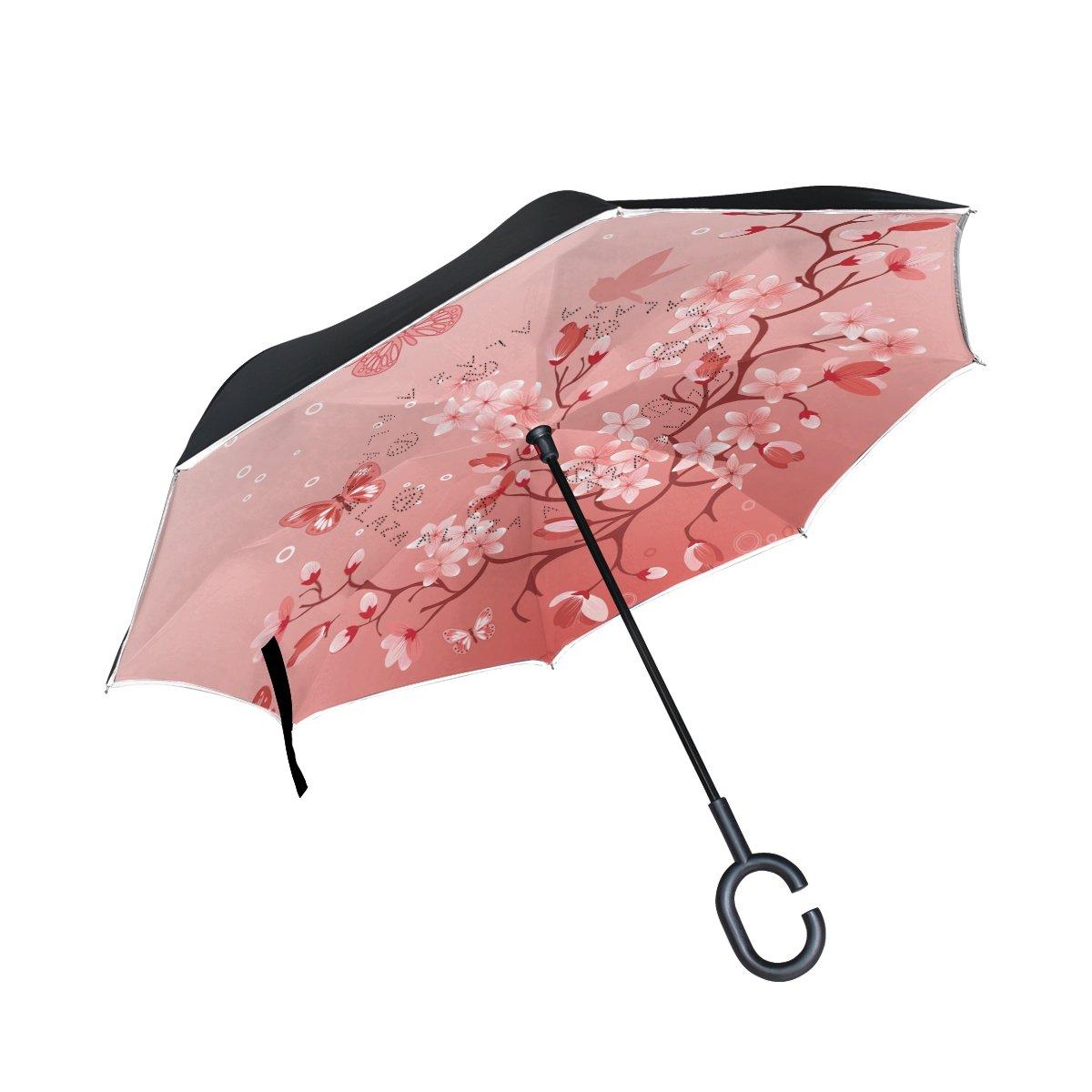 c7575ef4843e Amazon.com: Japanese Sakura Cherry Blossom Inverted Double Layer ...