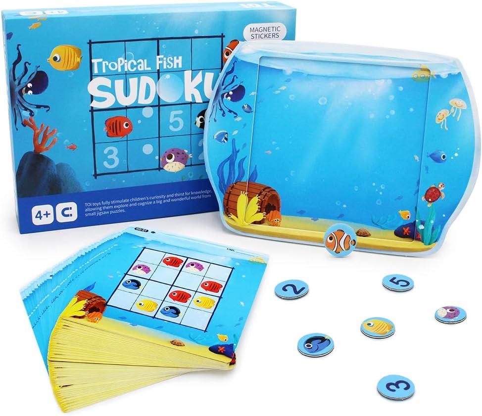 ANIKI TOYS Pesci Tropicali Sudoku Giochi da Tavolo magnetici Numero...