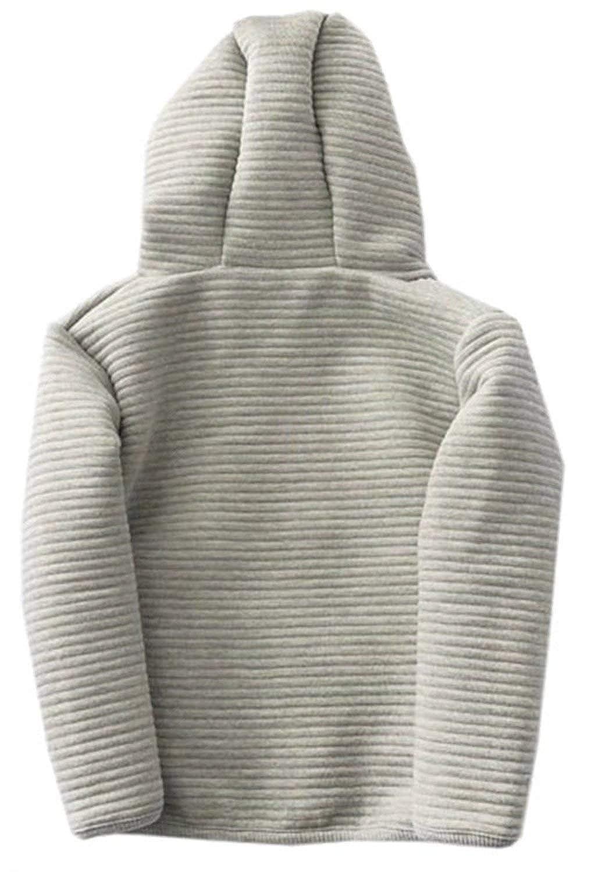 EMAOR Unisex Kids Baby Boys Girls Zipper Closure Hooded Jacket Coat