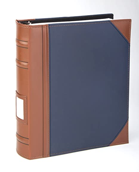 amazon com executive binder english leather 2 tone with stitching