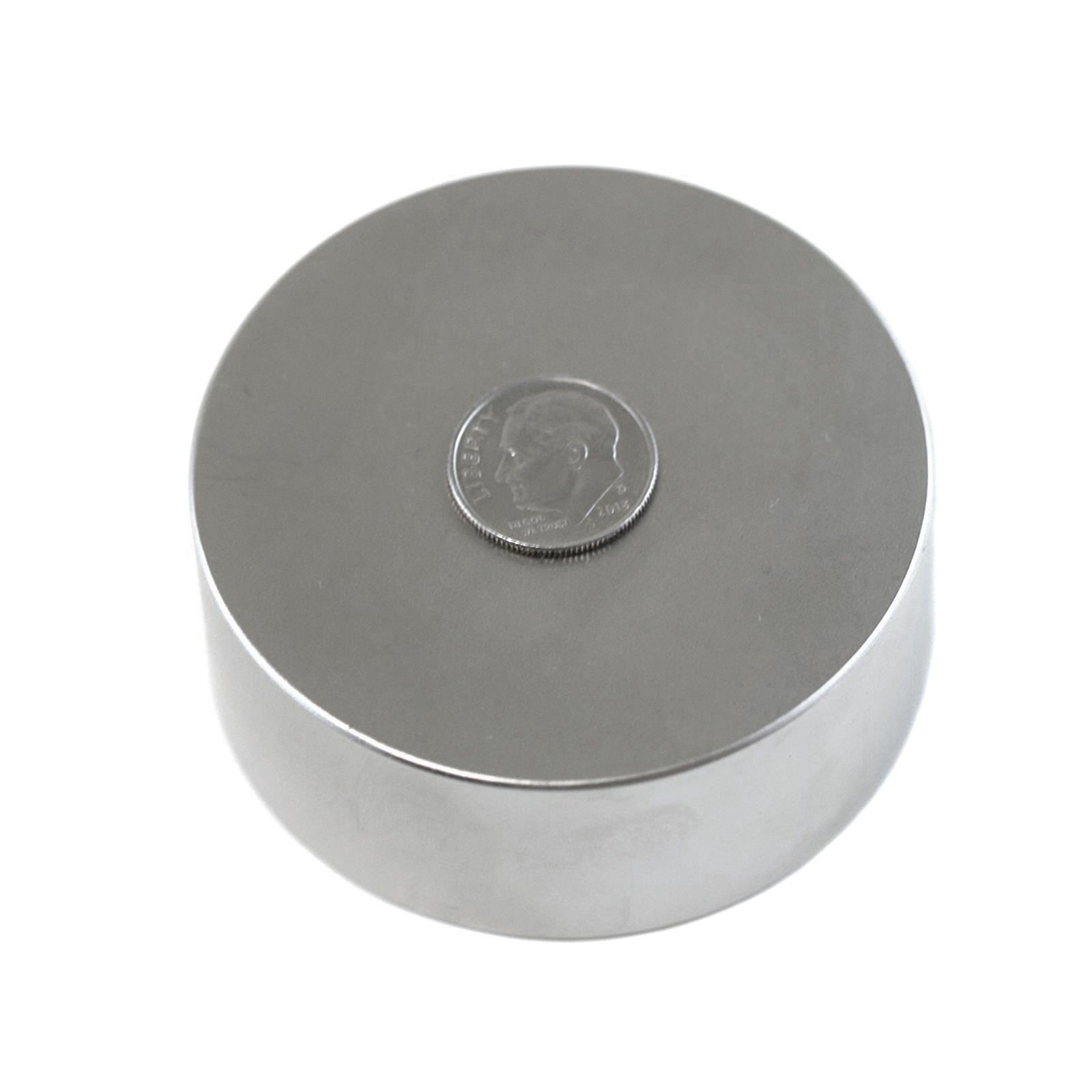 Applied Magnets 1 Piece 2.5'' x 1'' Grade N42 Neodymium Disc Magnet