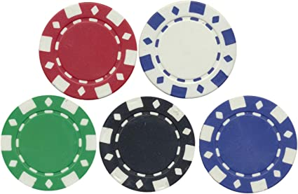 Amazon Com 100 Clay Fad Diamond Roulette Or Tournament Chips Custom Set 11 5 Gram Poker Chips Sports Outdoors