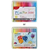 MONAMI Plus Pen 3000 Felt Tip Pens, Fine Point (0.4mm), Coloring/Drawing/Journaling, Assorted Colors, 36-Pack