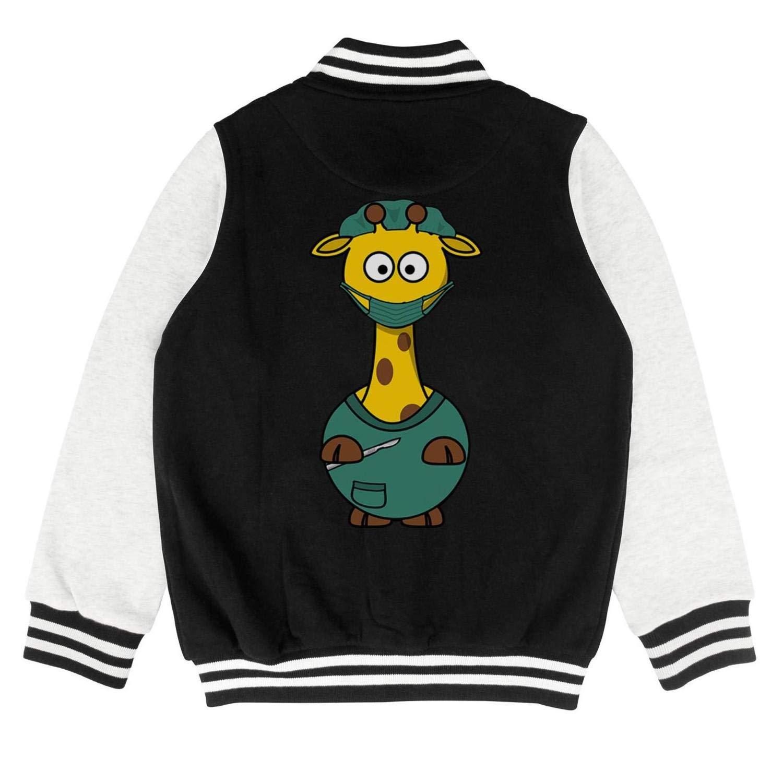 epoyseretrtgty Autumn Kids Girls Cool Cute Doctor Green Giraffe Designer Baseball Jacket Overcoat