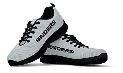 1684f4904bce5 Oakland Themed Casual Athletic Running Shoe Mens Womens Sizes Football  Raiders Apparel and Gifts for Men Women Fan NFL Raider Merchandise