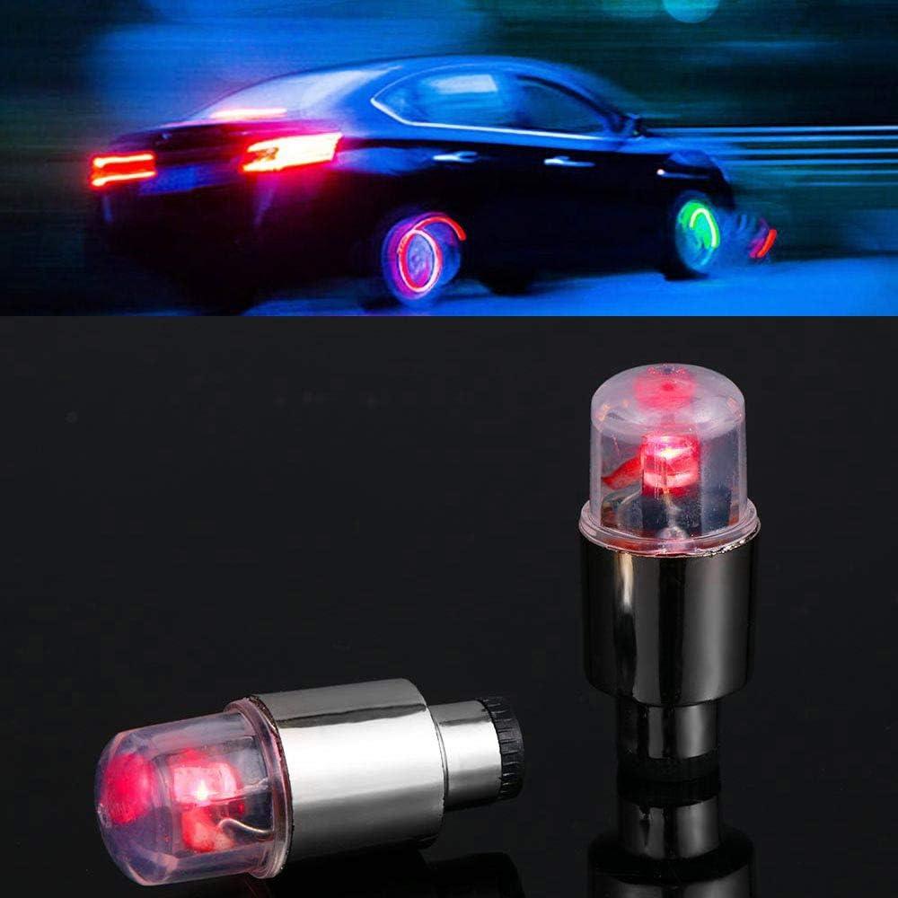 RISHENGD 4 Moto Bouchon de Valve de Pneu de Voiture de v/élo Flash LED Remettre en Place la lumi/ère d/écorative lumi/ère Ampoule de Voiture pi/èces Automobiles Nouveaux Produits