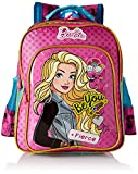 Barbie Pink and Blue School Bag for Children of Age Group 3 - 5 years | Size 14 inch