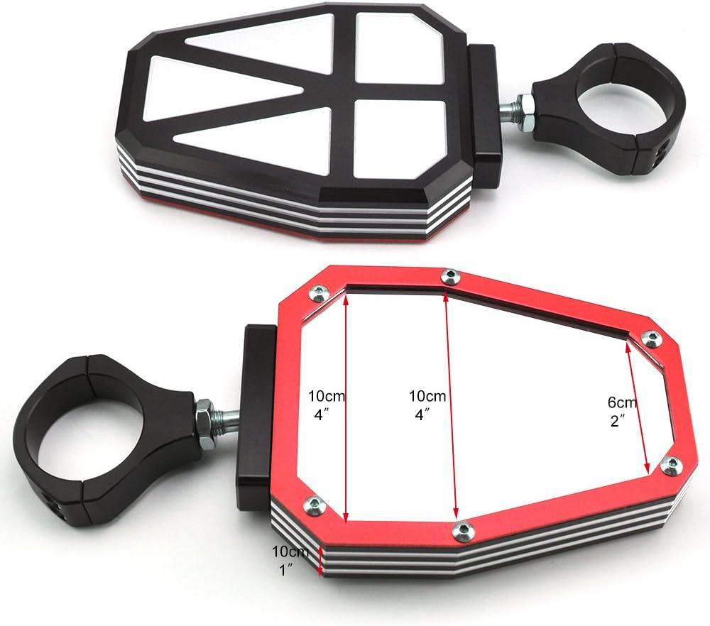 "1.75/"" UTV Wide Rear View Mirror For Yamaha Rhinos 450 660 Honda Pioneer 1000 UK"