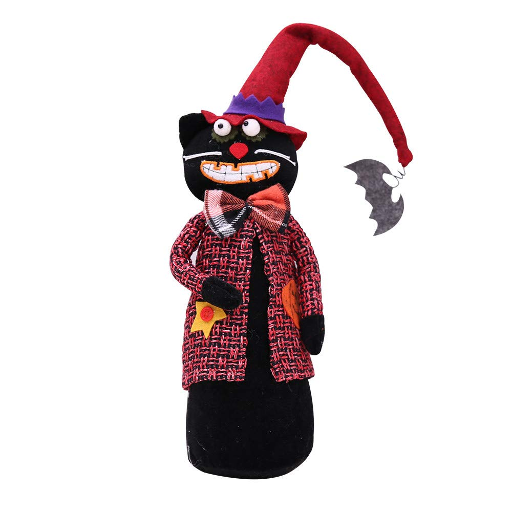 iZHH Happy Halloween Doll Ghost Decoration Bar Pumpkin Atmosphere Decor Prop Toy iZHH 911