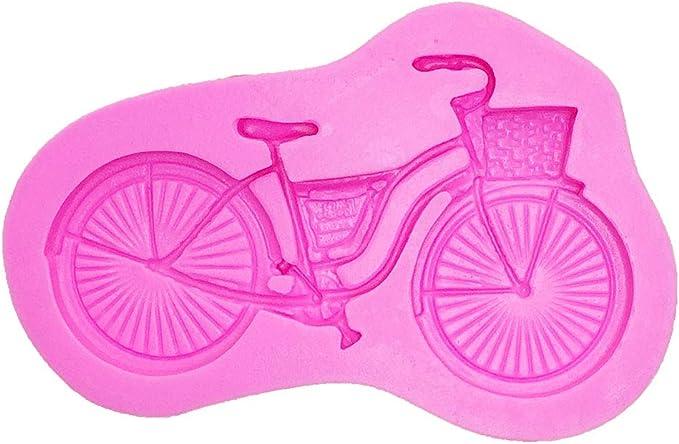 CYXBY Molde de Silicona en Forma de Bicicleta para Caramelo ...
