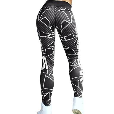 e7d1ab4bf732e Sixcup Women Geometric Printed Sports Gym Yoga Workout Mid Waist Running  Pants Fitness Elastic Leggings: Amazon.co.uk: Clothing