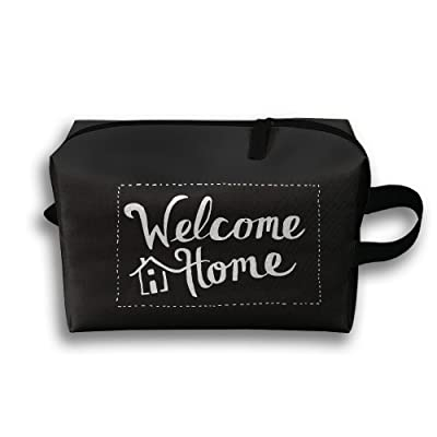Welcome Home Unisex Fashion Travel Bag Portable Toiletry Bag Organizer Storage