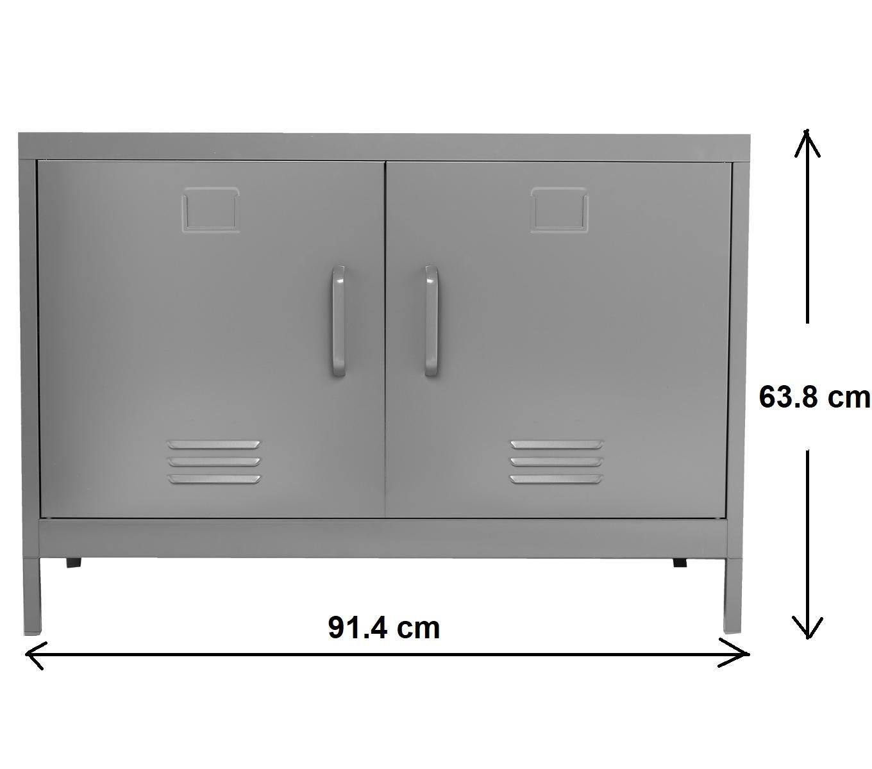 Meuble Console Buffet Bas De Rangement 2 Portes Esprit  # Meuble Tv Esprit Loft
