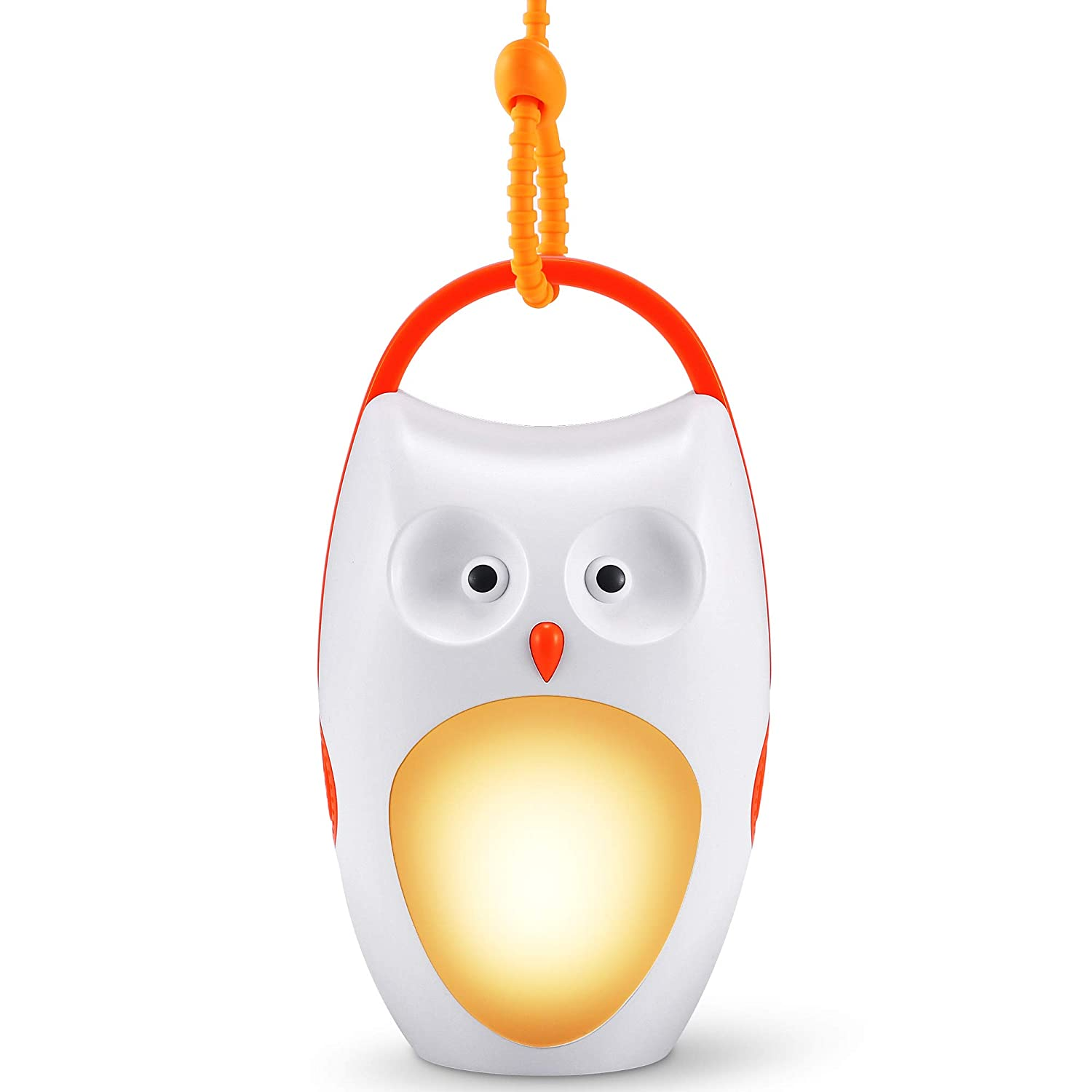 SOAIY Baby Sleep Soother Owl Portable White Noise Shusher Sound Machine with Sleep Aid Night Light,7 Soothing Sounds with Volume Control,Auto-Timer for Traveing,Sleeping,Baby Carrige.