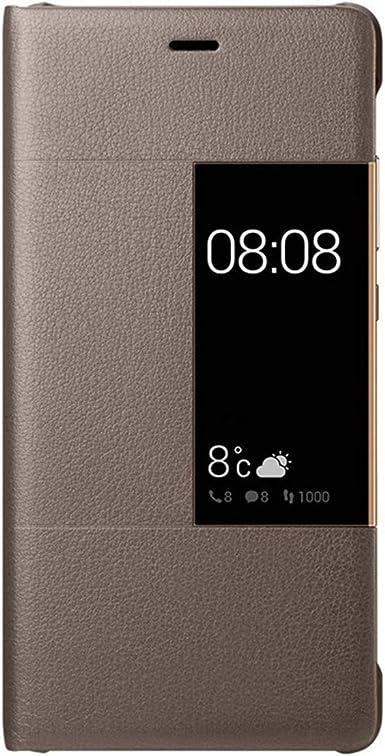 14chvily – Funda para Huawei P9, Huawei P9 Plus, piel sintética, protección de 360 grados, resistente a los golpes, funda para móvil, tarjetero, pinza para dinero marrón Talla única: Amazon.es: Ropa y