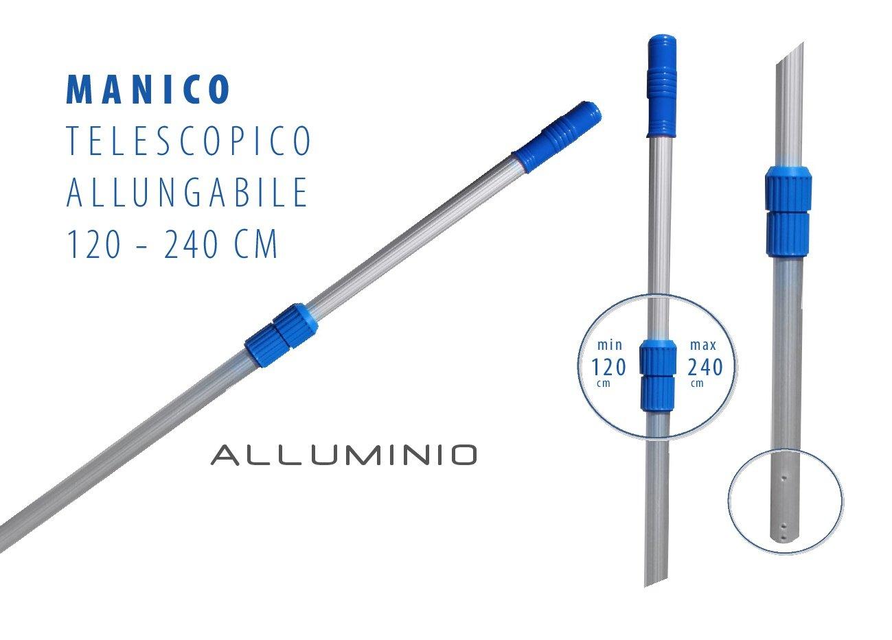 Tecno Line Barra extensible de aluminio 120 - 240. Mango ...