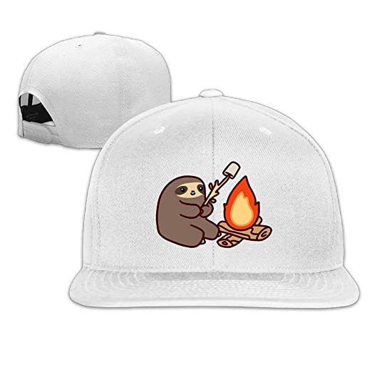 Image Unavailable. Image not available for. Color  Low Profile Campfire  Sloth Good Vibes Flat Bill Classic Run Baseball Caps ... 3824d6e3259