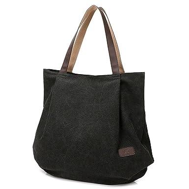 721887c4bb53 Women Shoulder Bags Canvas School Book Bags for Teenage Girls Travel  Organizer Tote Purse Hobos Beach