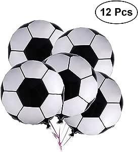LUOEM 12 Unids balón de fútbol de fútbol de fútbol metálico Globos ...