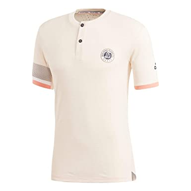 fb909e48aa4e T Shirt Adidas Ecru Tint Roland Garros 2018  Amazon.fr  Vêtements et  accessoires