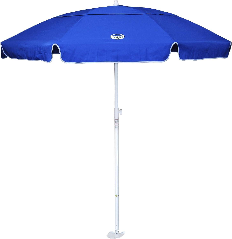 dig-git Beach Umbrella w Integrated Anchor – Royal Blue