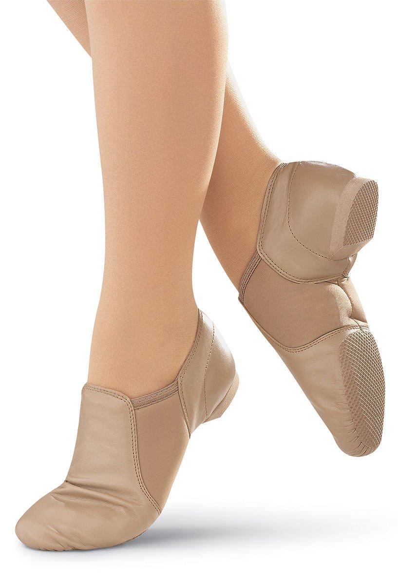Balera Jazz Dance Shoe Leather Slip-On Split Sole Carmel 8AM