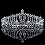 Bienna Wedding Tiara Crown Sparkly Rhinestones Crystal Decor Bridal Princess Women Girls Headband Headpiece with Comb for Pageant Prom #1