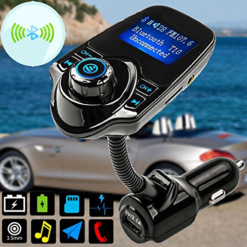 Wireless Bluetooth FM Transmitter USB Charger MP3 Player Hands-free Car Kit Mic