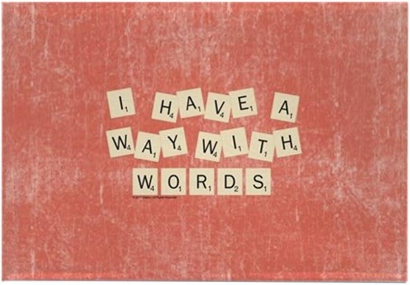 CafePress - Imán rectangular para nevera con texto en inglés Scrabble Way With Words (5,08 x 7,62 cm): Amazon.es: Hogar