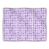 Kess InHouse Marianna Tankelevich ''Cute Birds Purple'' Pet Blanket, 30 by 40-Inch, Pink/Lavender